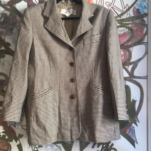 Escada plaid houndstooth blazer 42